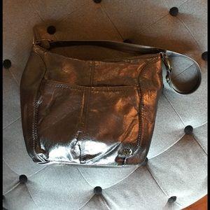 The Sak Metallic Leather Shoulder Bag